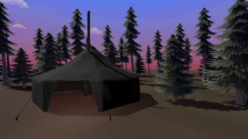 Calm Evening at the Camp