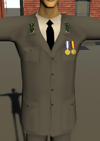 Upseerin vaatetus. Kunniamitalit. Eversti.